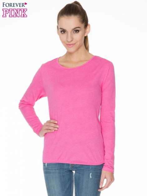 Różowa bawełniana bluzka z gumką na dole                                  zdj.                                  1