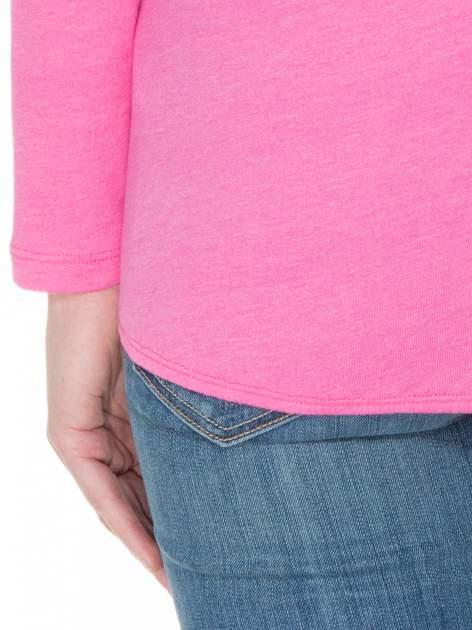 Różowa bawełniana bluzka z gumką na dole                                  zdj.                                  6