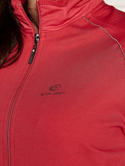 Różowa bluza sportowa fitness z wiązaniem                                  zdj.                                  4