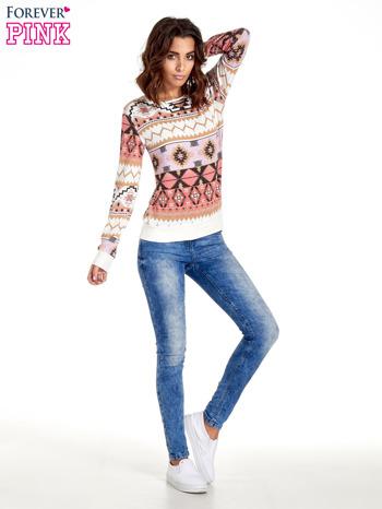 Różowa bluza w azteckie wzory                                  zdj.                                  7