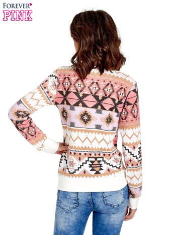 Różowa bluza w azteckie wzory                                  zdj.                                  4