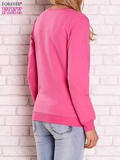 Różowa bluza z kolorowymi naszywkami                                  zdj.                                  2