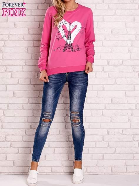 Różowa bluza z motywem paryskim                                  zdj.                                  2
