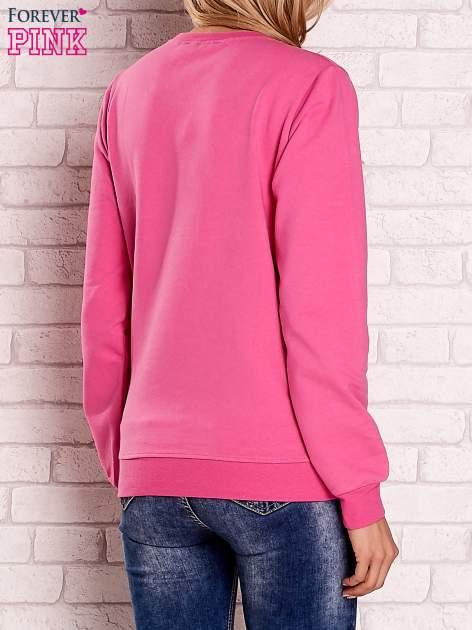 Różowa bluza z motywem paryskim                                  zdj.                                  4