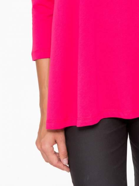 Różowa bluzka o rozkloszowanym kroju z rękawem 3/4                                  zdj.                                  9