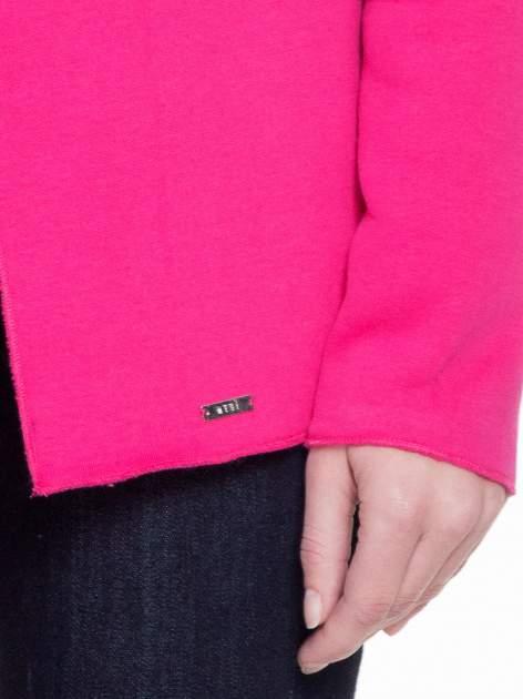 Różowa bluzonarzutka z klapami o kroju waterfall                                  zdj.                                  6