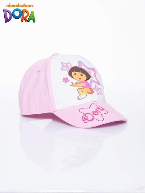 Różowa czapka z daszkiem dla dziewczynki DORA                                  zdj.                                  2
