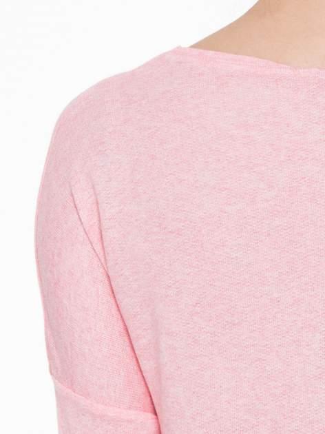 Różowa dresowa bluza oversize z kieszeniami                                  zdj.                                  5