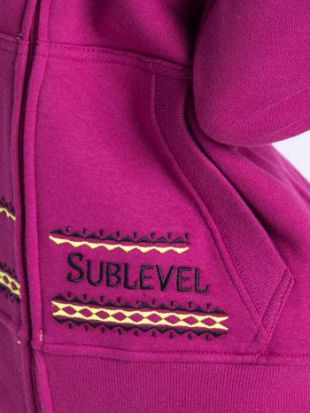Różowa dresowa bluza sportowa z kapturem                                  zdj.                                  4