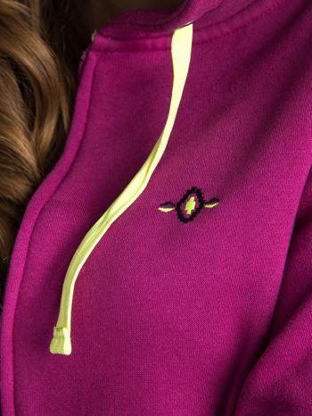 Różowa dresowa bluza sportowa z kapturem                                  zdj.                                  8