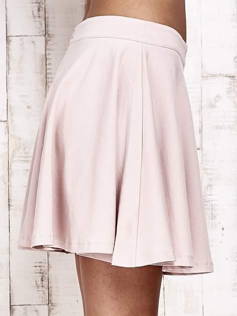 Różowa dresowa spódnica szyta z koła                                  zdj.                                  5