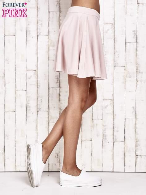 Różowa dresowa spódnica szyta z koła                                  zdj.                                  3