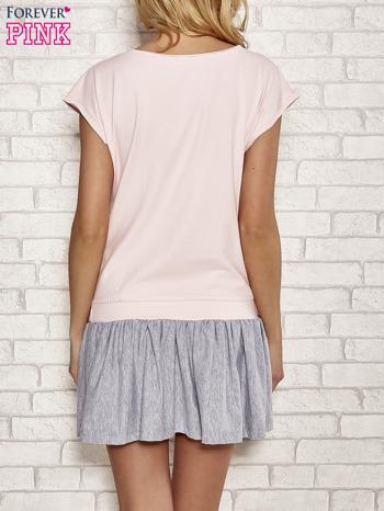 Różowa dresowa sukienka tenisowa z kieszonką                                  zdj.                                  4