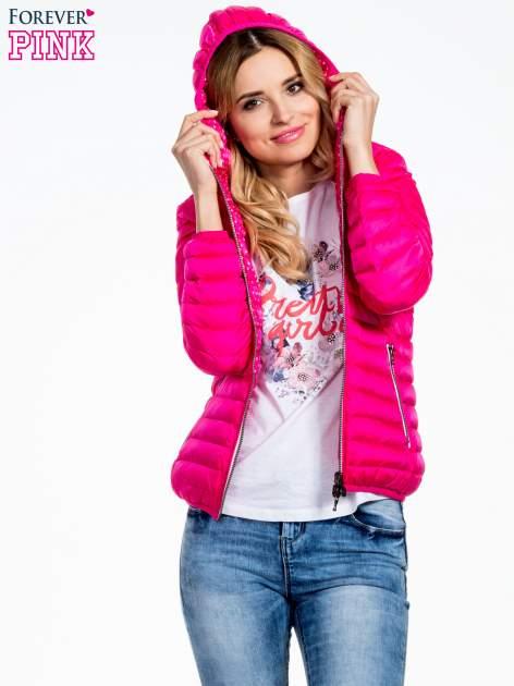 Różowa dwustronna lekka kurtka puchowa                                  zdj.                                  5