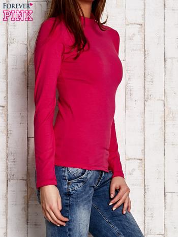 Różowa gładka bluzka z półgolfem                                  zdj.                                  2