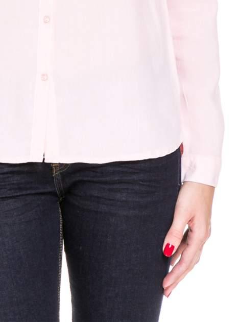 Różowa koszula damska z koronkową górą                                  zdj.                                  8