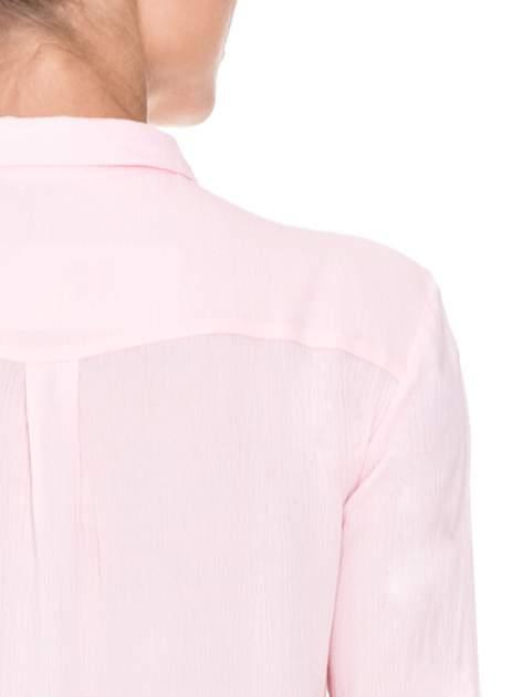 Różowa koszula z biżuteryjnym kołnierzykiem                                  zdj.                                  9