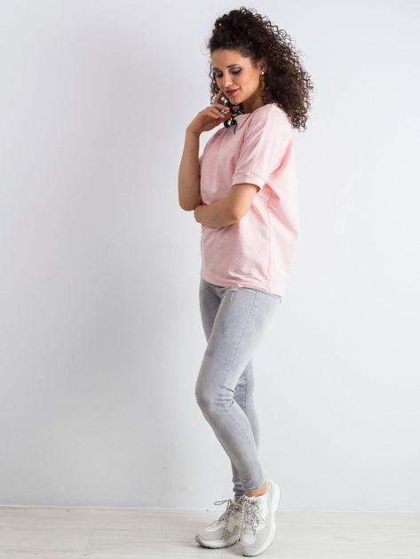 Różowa melanżowa bluzka Lemontree                              zdj.                              4
