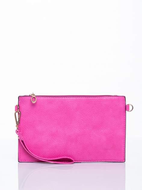 Różowa prosta przewieszana torebka z uchwytem