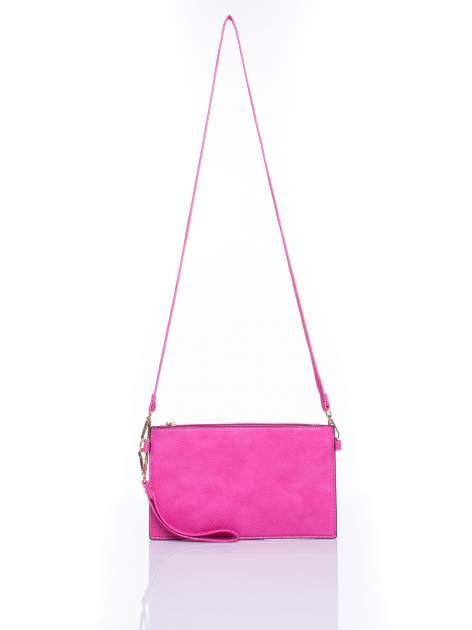 Różowa prosta przewieszana torebka z uchwytem                                  zdj.                                  4