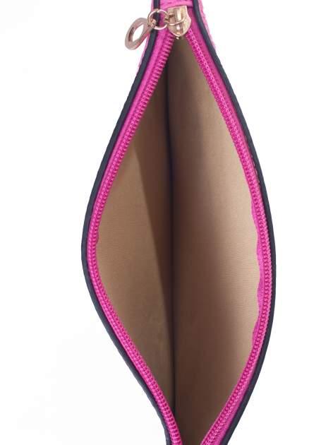 Różowa prosta przewieszana torebka z uchwytem                                  zdj.                                  5