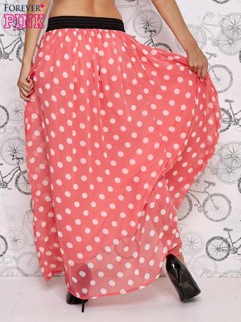 Różowa spódnica maxi w białe grochy                                  zdj.                                  3