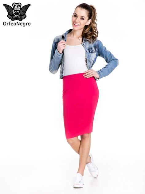 Różowa spódnica tuba za kolano                                  zdj.                                  2