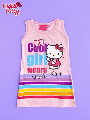 Różowa sukienka bez rękawów dla dziewczynki HELLO KITTY