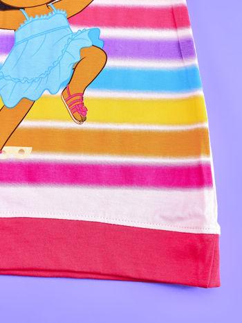 Różowa sukienka dla dziewczynki DORA POZNAJE ŚWIAT                                  zdj.                                  5