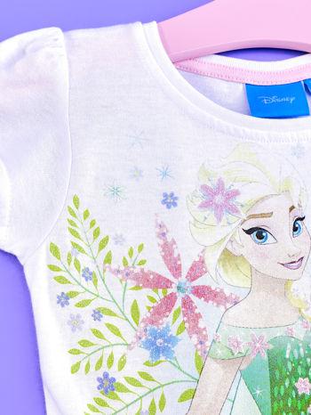Różowa sukienka dla dziewczynki z brokatowym paskiem FROZEN                                  zdj.                                  3