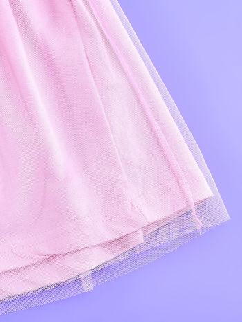 Różowa sukienka dla dziewczynki z brokatowym paskiem FROZEN                                  zdj.                                  5