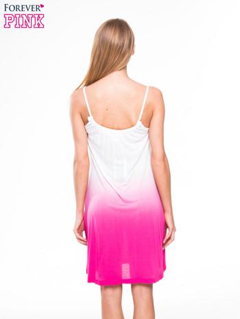 Różowa sukienka na ramiączka z efektem ombre                                  zdj.                                  3