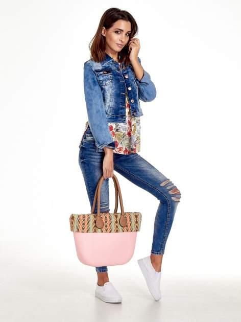 Różowa torba gumowa z motywem azteckim                                  zdj.                                  10