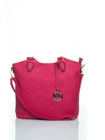 Różowa torebka fakturowana w pasy                                   zdj.                                  1
