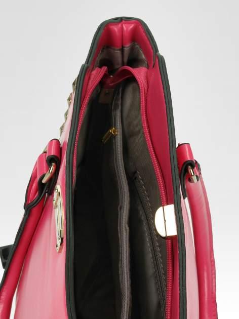Różowa torebka na ramię z dżetami                                  zdj.                                  10