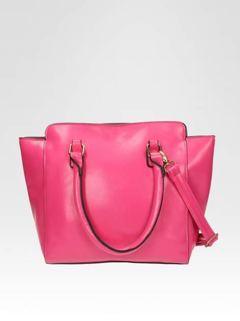 Różowa torebka na ramię z dżetami                                  zdj.                                  3