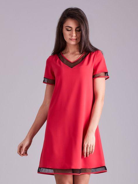 Różowa trapezowa sukienka                              zdj.                              1