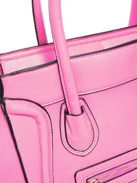 Różowa trapezowa torba miejska                                   zdj.                                  4