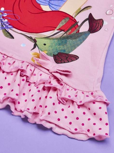 Różowa tunika dla dziewczynki MAŁA SYRENKA                                  zdj.                                  3