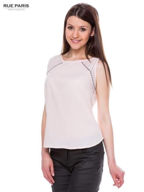 Różowa zwiewna koszula z dżetami                                  zdj.                                  2