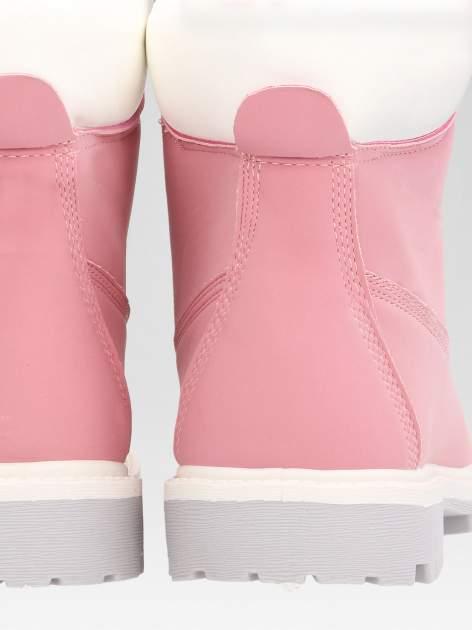Różowe buty trekkingowe damskie traperki Shimmy                                  zdj.                                  8