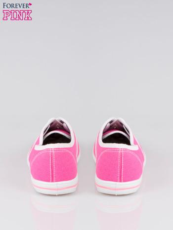 Różowe damskie tenisówki przed kostkę                                  zdj.                                  3