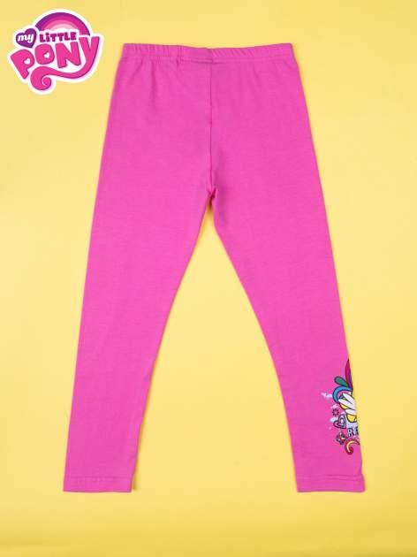 Różowe legginsy dla dziewczynki z motywem MY LITTLE PONY                                  zdj.                                  2
