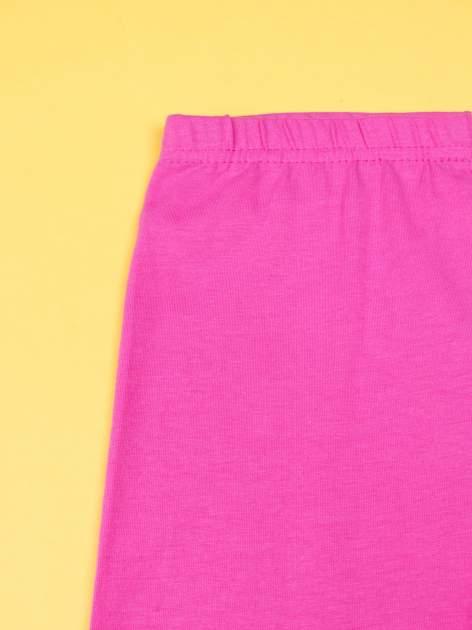 Różowe legginsy dla dziewczynki z motywem MY LITTLE PONY                                  zdj.                                  3