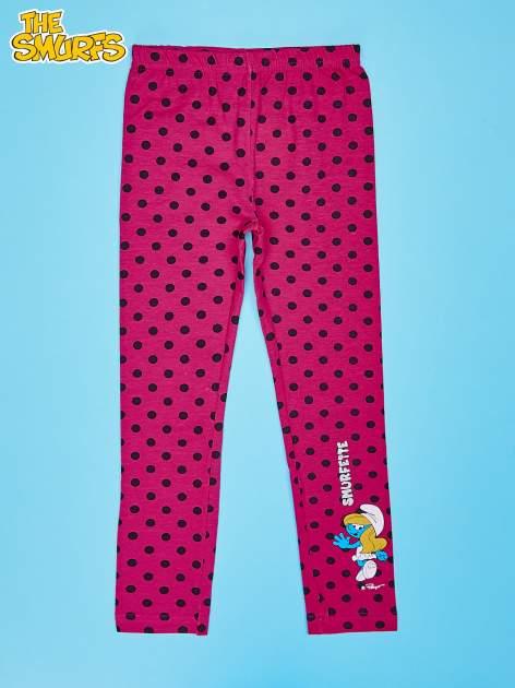 Różowe legginsy w groszki dla dziewczynki SMERFY                                  zdj.                                  1