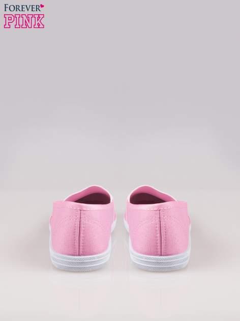 Różowe miękkie buty slip on                                  zdj.                                  3