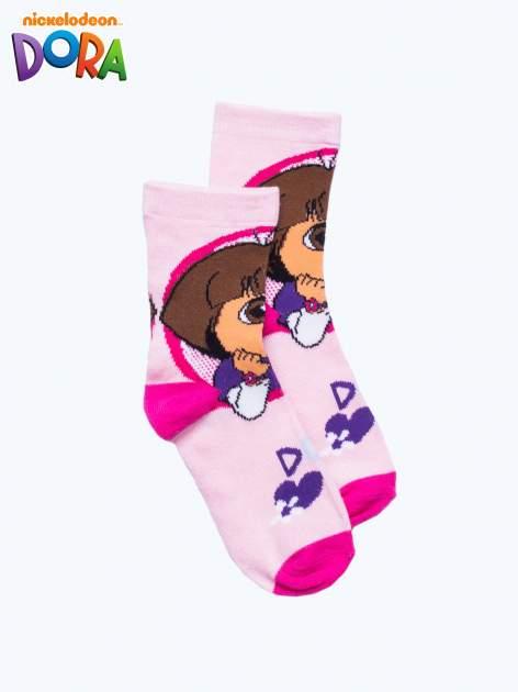 Różowe skarpetki dla dziewczynki DORA
