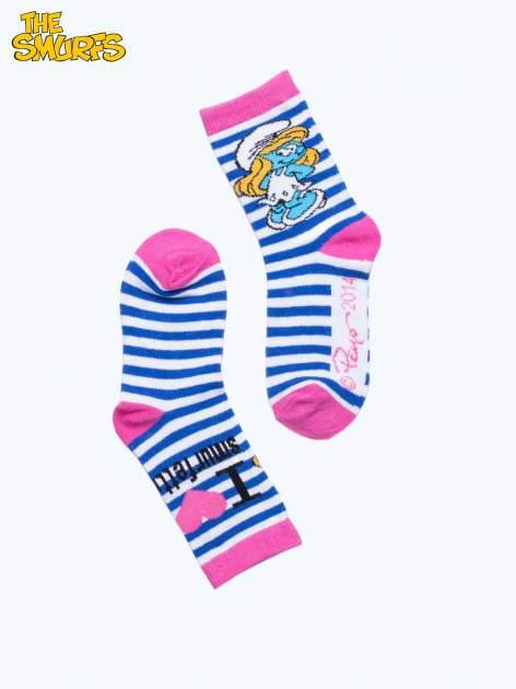 Różowe skarpetki dla dziewczynki SMERFY                                  zdj.                                  2