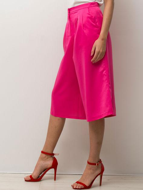 Różowe spódnicospodnie typu culottes                                  zdj.                                  7