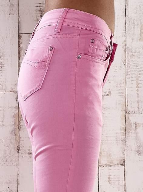 Różowe spodnie skinny jeans biodrówki                                  zdj.                                  5